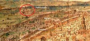 Porta de Sant Antoni i de Tallers, Raval, Valldonzella extramurs