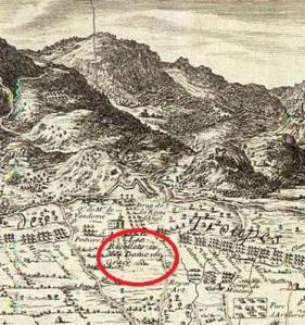 setge de barcelona - plànol francès - 1697