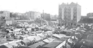 mercat del ninot 1910 a l'aire lliure